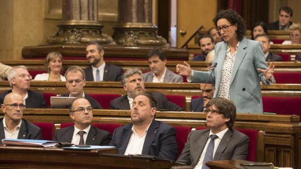 La secretaria general de ERC y portavoz parlamentaria de Junts pel Sí (JxSí), Marta Rovira