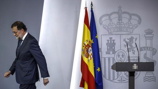 Mariano Rajoy, tras comparecer ante los medios