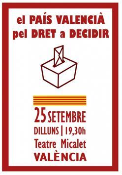 Imagen del cartel del acto convocado en Valencia