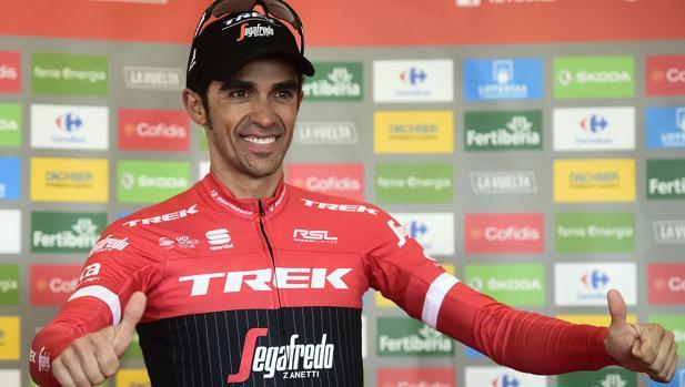 Contador, tras coronar L'Anglirú en la Vuelta Ciclista a España 2017