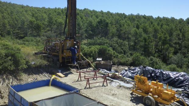 Imagen de las prospecciones realizadas en su día para confirmar la viabilidad de este proyecto minero