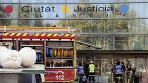 Imagen tomada este domingo en la Ciudad de la Justicia de Valencia