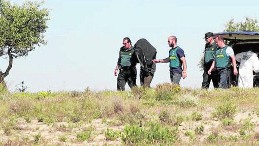 Finca de Santa Cruz de la Zarza en la que la Guardia Civil buscó restos