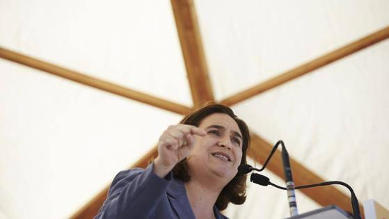 Ada Colau durante su intervención en el acto de Santa Coloma de Gramanet