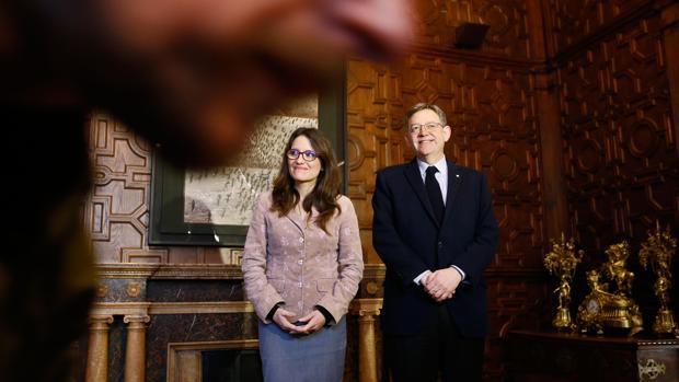 Imagen de archivo de Mónica Oltra y Ximo Puig