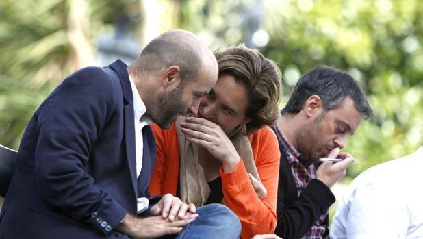 Villares y Colau, en las pasadas elecciones gallegas