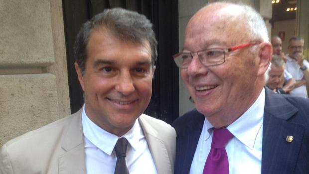 Jacint Borràs, junto al expresidente del F. C. Barcelona, Joan Laporta