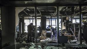 Imagen del estado en el que quedaron las instalaciones