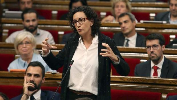 Marta Rovira, portavoz de Junts pel Sí, interviniendo en el pleno del Parlamento de Cataluña