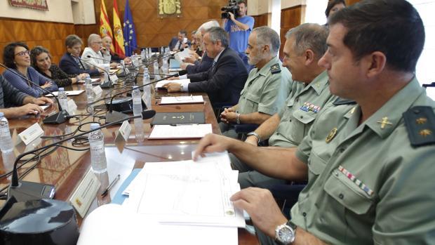 Una de las reuniones preparatorias que están teniendo lugar para preparar el dispositivo de seguridad