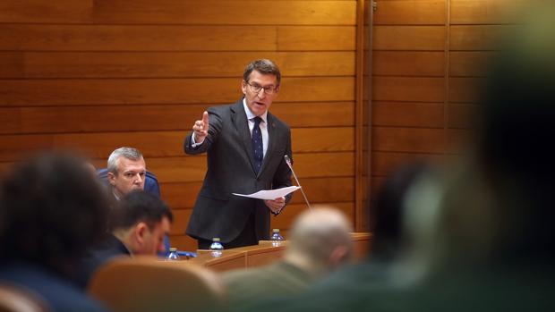 Feijóo, en el Parlamento de Galicia, en una imagen de archvo