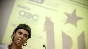 Imagen de Anna Gabriel en el acto celebrado este miércoles en la Universidad de Valencia