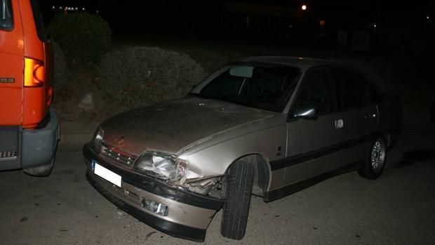 Estado en que quedó el vehículo tras la accidentada fuga