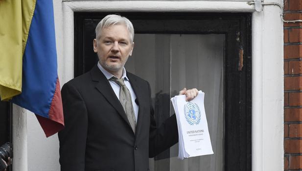 Julian Assagne, en la embajada de Ecuador en Londres