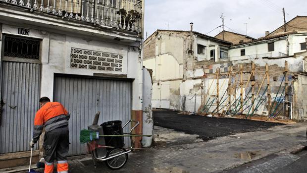 Imagen de archivo de la «zona cero» de El Cabanyal