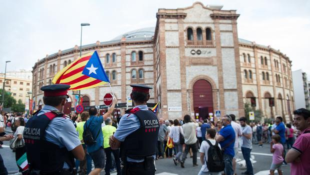 La plaza de toros de Tarragona, preparada para el acto
