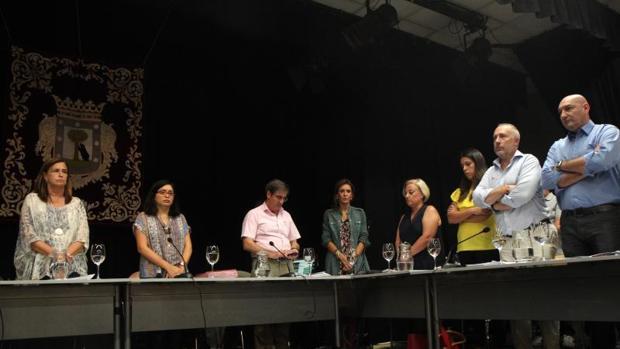 Rommy Arce, concejal de Ahora Madrid, presidió ayer el Pleno de Arganzuela