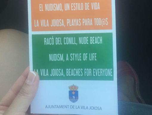 El folleto, editado en valenciano, español e inglés