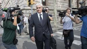 Germá Gordó tras declarar ayer en el TSJ de Cataluña por el caso 3 por ciento