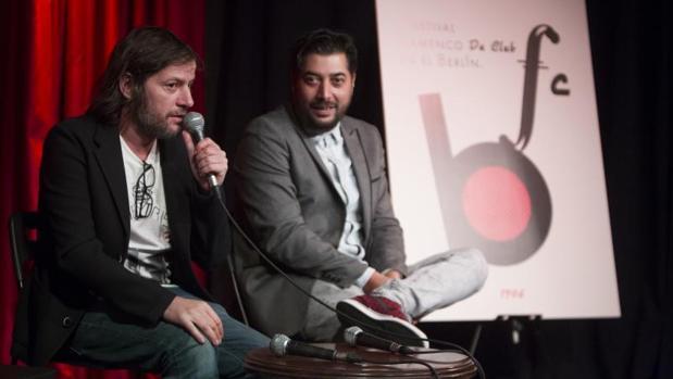 Andrés Almada y «Bandolero», programadores del festival, ayer