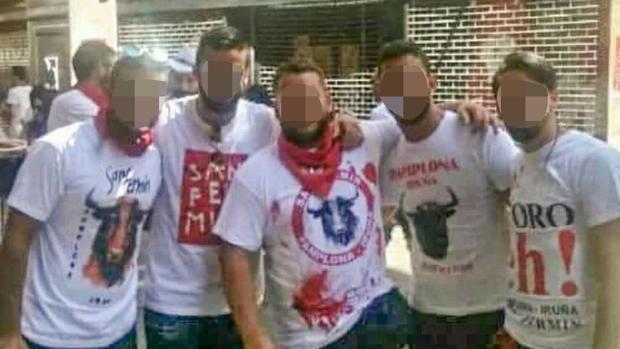 Los cinco amigos sevillanos que presuntamente violaron a una joven madrileña durante los Sanfermines 2016
