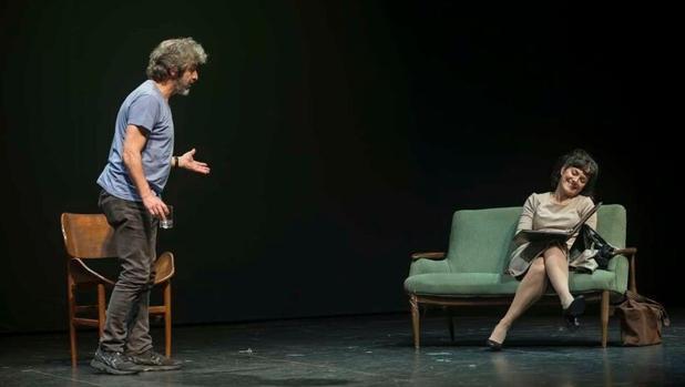 Ricardo Darín y Andrea Pietra, durante una de las representaciones
