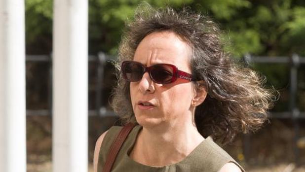 Noelia de Mingo en los Juzgados de Plaza Castilla el pasado mes de julio
