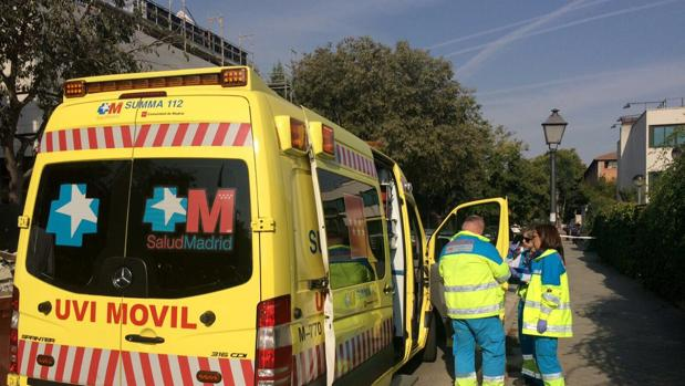 Ambulancia trasladada al lugar del accidente