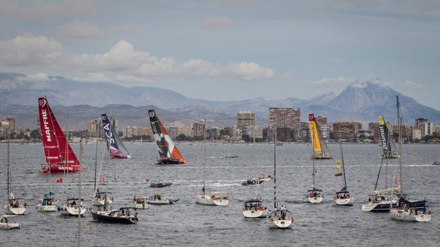 Salida de la Volvo Ocean Race en Alicante