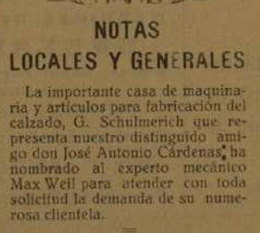 Reseña de Schulmerich en IDELLA 1929