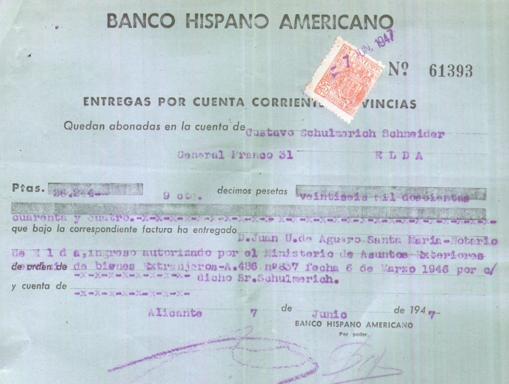 Ingreso en el Banco Hispano Americano