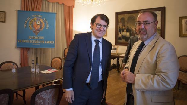 Fernández Mañueco y Rey, ayer en Salamanca