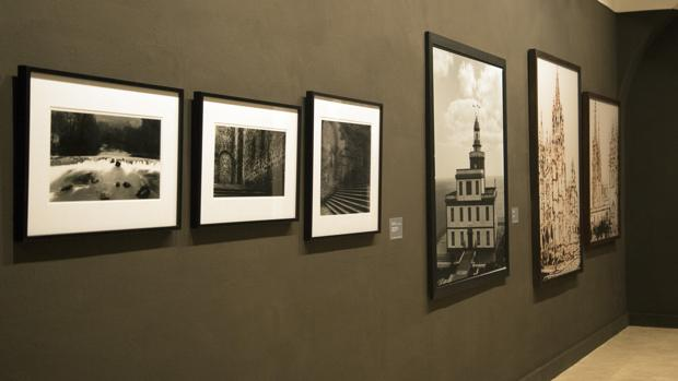 Varias de las obras de la exposición «Muchos Caminos» inaugurada ayer en la Academia España en Roma