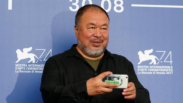 El activista chino Ai Weiwei, durante su presencia en la última Mostra de Venecia