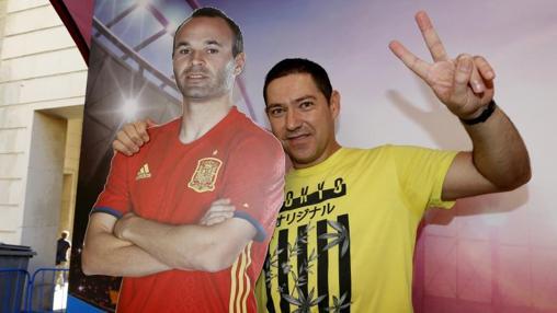 Antonio García, venido desde Tomelloso (Ciudad Real) a Alicante para el partido