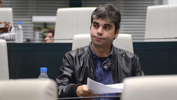 El edil Jorge García Castaño durante un Pleno en Cibeles