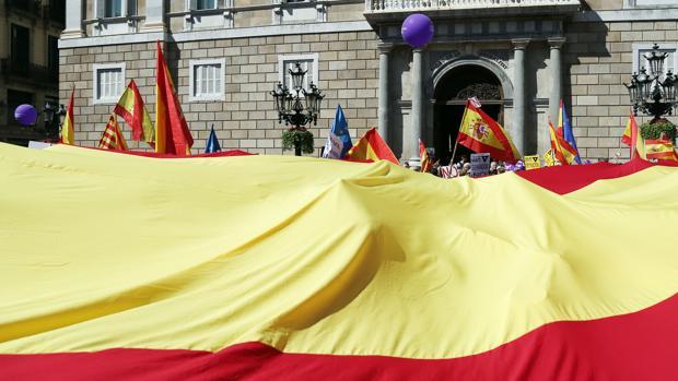 Manifestación de Sociedad Civil Catalana en Barcelona el pasado marzo