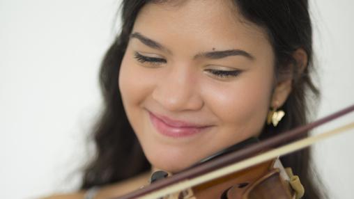 La violinista Dalina Ugarte