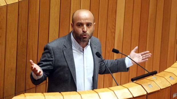 El portavoz de En Marea, Luís Villares, en el Parlamento
