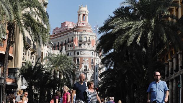 Imagen de la nueva sede de CaixaBank tomada este viernes en Valencia