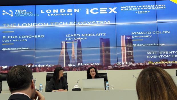 Elena Corchero en un acto del Icex en Londres