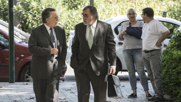 Alfonso Grau, este viernes a su llegada a la Ciudad de la Justicia