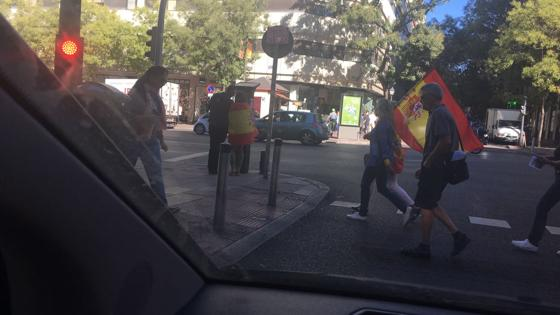 Cconcentración en defensa de la unidad de España en Madrid, convocada por DENAES