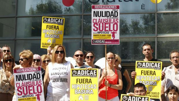 Protesta por las cláusulas suelo