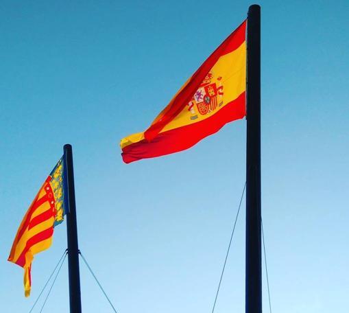 Imagen tomada este domingo en la Marina de Valencia