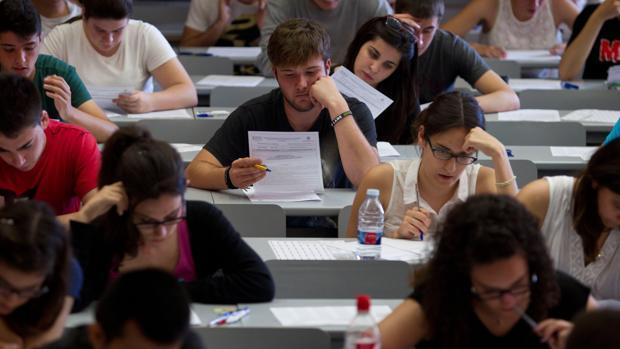 Imagen de archivo del examen de unas oposiciones