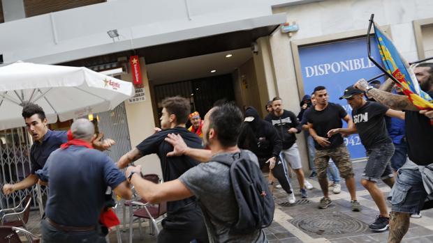 Imagen de los altercados registrados en Valencia este lunes