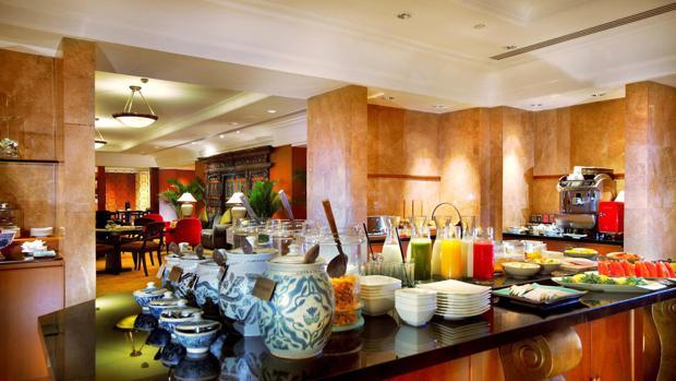 Desayuno en un hotel