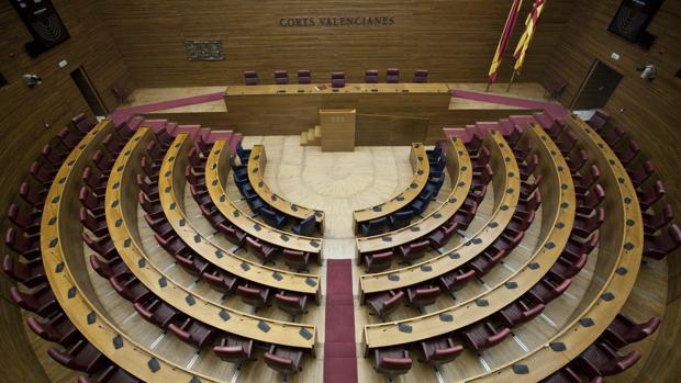 Imagen del hemiciclo de las Cortes Valencianas