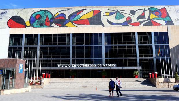 Acceso principal al Palacio de Congresos de Madrid